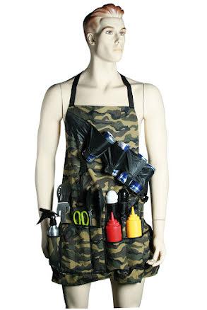 Förkläde med fickor, kamouflage