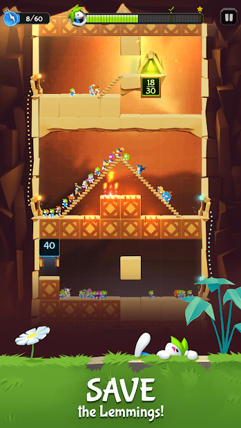 Lemmings - Puzzle Adventure Android App Screenshot