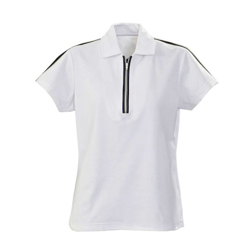 Sports Polo Shirt with Zipper