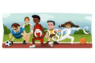 Photo: Google doodles opening ceremony London 2012 http://t.in.com/9qum