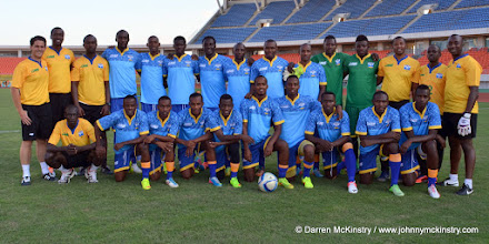 Photo: Training Squad - 13 June 2015  [Training camp ahead of Rwanda Amavubi v Mozambique on 14 June 2015 (Pic © Darren McKinstry / www.johnnymckinstry.com)]