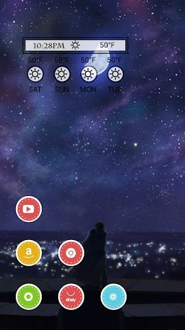 android Romantic Night Theme Screenshot 1