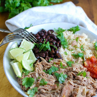Slow Cooker Cuban Pork Rice Bowls.