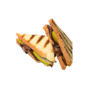Choco-Hazelnut and Pear Paninis
