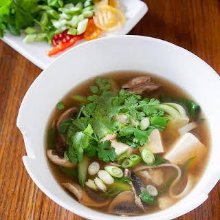 Asian Tofu Noodle Soup.