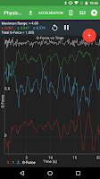 Screenshot of Physics Toolbox Accelerometer