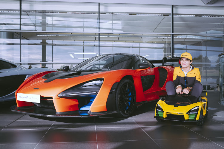 Formula 1 driver Lando Norris managed to squeeze in the McLaren Senna Ride-On and take it for a test drive, just to check he was happy with the way it drove.