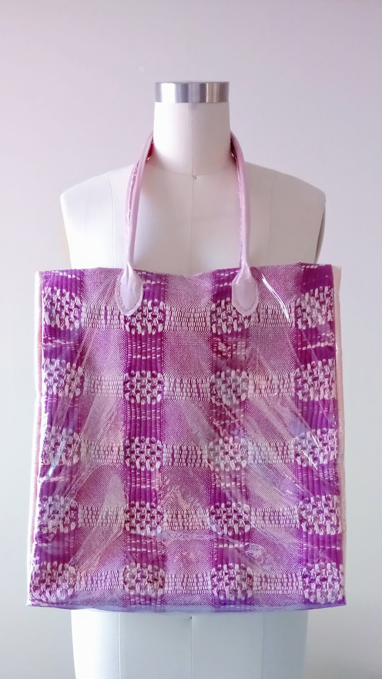 Result: DIY Handwoven Tote with Clear Vinyl Cover - DIY Fashion Accessories | fafafoom.com