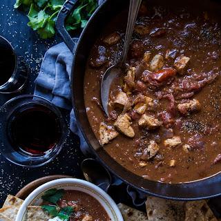 Tomato Chicken Curry with Lavash Garlic Crisps Recipe