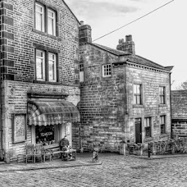 relaxing time by Betty Taylor - City,  Street & Park  Street Scenes ( cobblestone, street scene, roads, street photography )