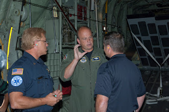 "Photo: Metropolitan Twin Cities civilian officials talk with an Airman aboard a C-130 ""Hercules"" as they participate in Metro Mayors Day at the 133rd Airlift Wing on August 19, 2010. The Minnesota National Guard units at the Minneapolis-St. Paul International Airport brought local officials on base and on a flight on a military cargo aircraft to demonstrate the capabilities that could be available once authorized for communities. www.MinnesotaNationalGuard.org photo by Senior Master Sgt. Mark Moss"