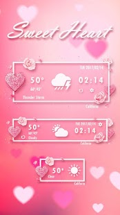 Sweet Heart GO Weather Widget - náhled