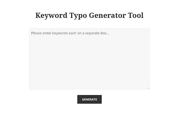 Keyword Typo Generator Tool