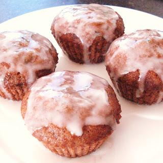 Zucchini Muffins With Lemon Glaze.