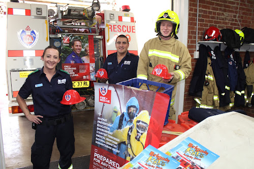 Narrabri Fire and Rescue's latest recruit Rebecca Bird and firefighters Lucas Warren and Luke Morgan preparing for the annual Narrabri fire station open day  this Saturday, May 19.