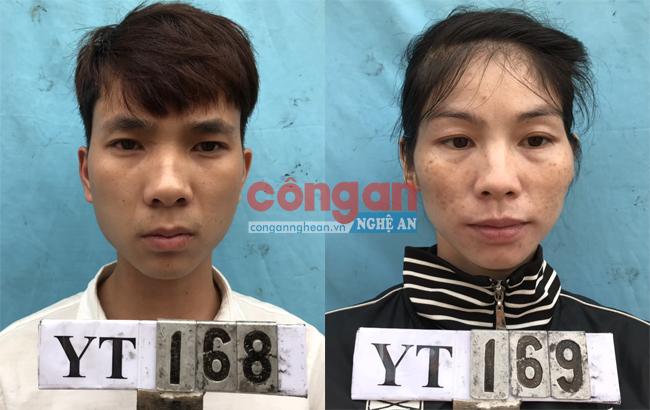 2 đối tượng Hồ Đức Quỳnh và Vi Thị Hồng