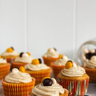 Pecan Pie Spice Cupcakes with Brown Sugar Frosting