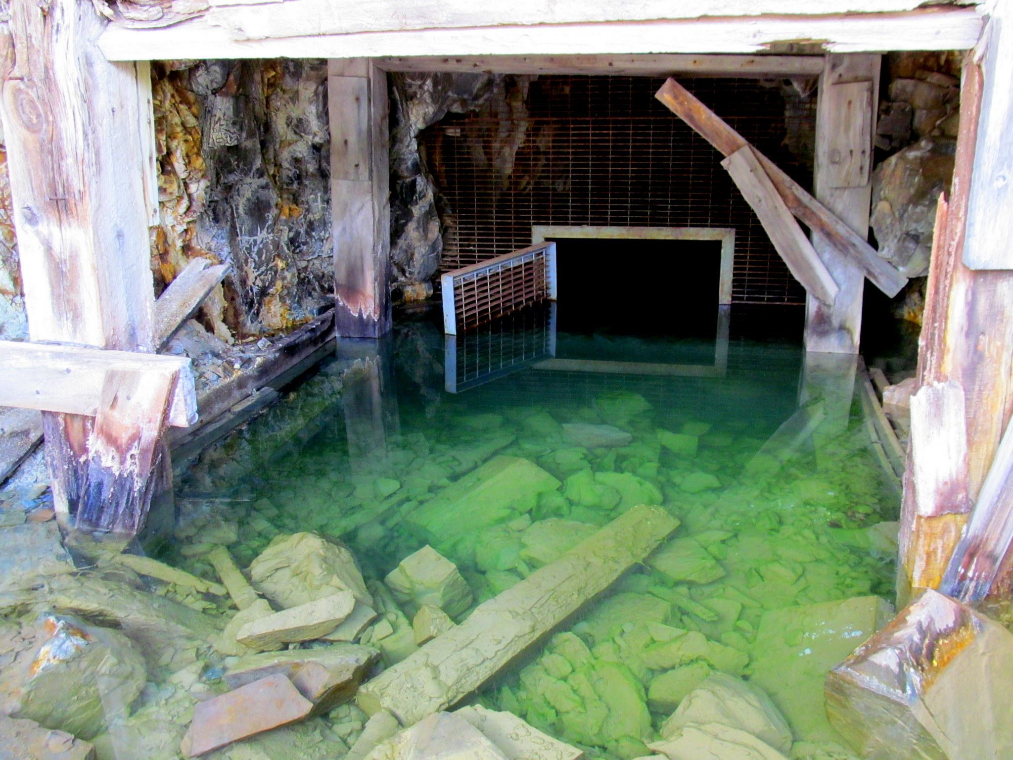 Photo: Mine entrance at Guston