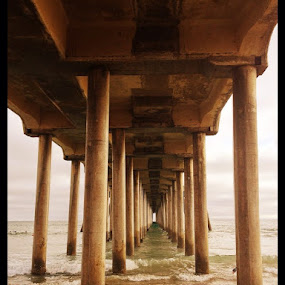Huntington Beach pier by Shaianne Holloway - Buildings & Architecture Bridges & Suspended Structures