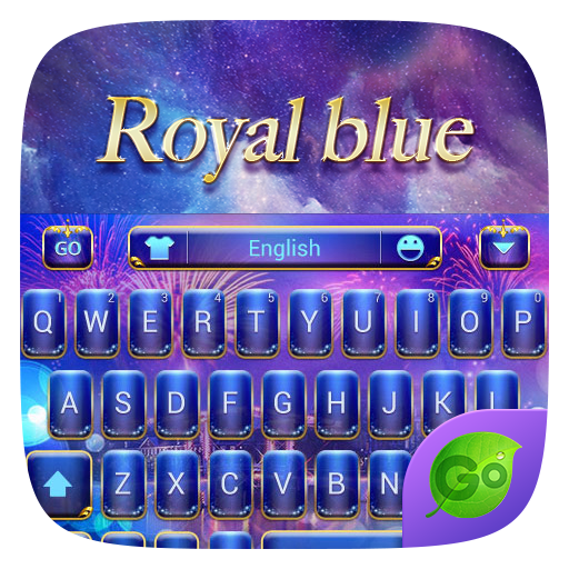 Royal Blue GO Keyboard Theme 個人化 App LOGO-APP開箱王