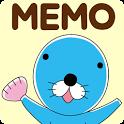 待受にメモ帳「ぼのぼの」かわいいメモ帳ウィジェット無料 icon