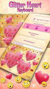 Glitter Heart Keyboard screenshot 2