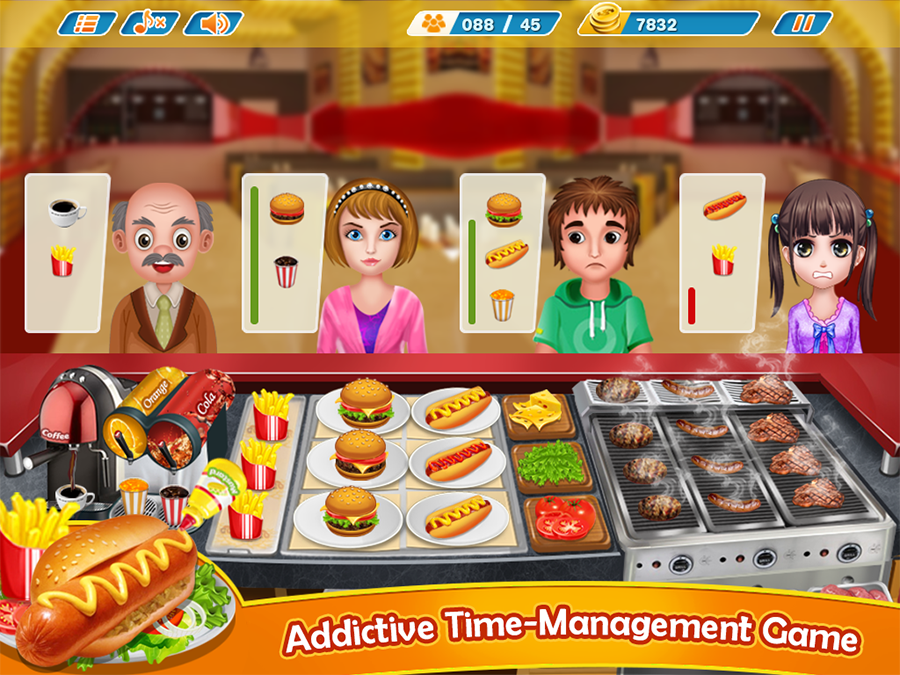 cooking games burger shop