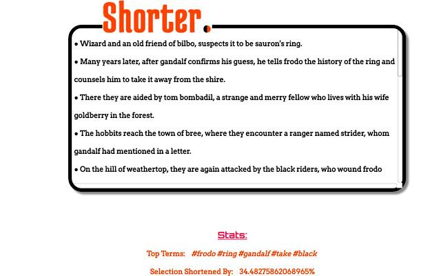 Shorter.
