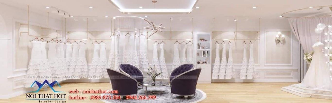 trang trí thiết kế studio áo cưới