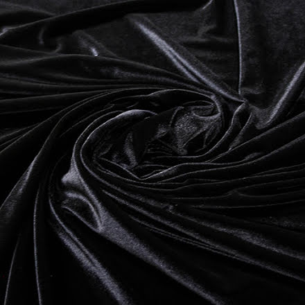 Stretchsammet - svart
