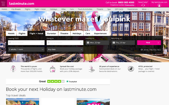 lastminute.com linkify