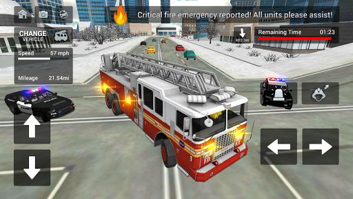 Fire Truck Rescue Simulator  screenshots 5