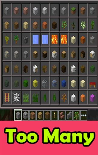 Too Many Items mods mcpe