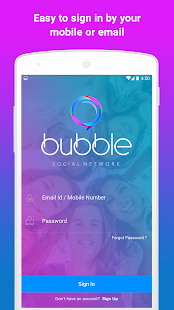BUBBLE: Social + Messaging - náhled