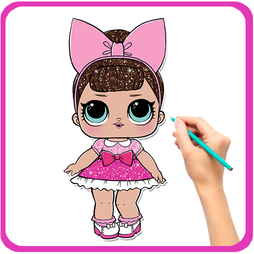How To Draw LOL Surprise Doll 1