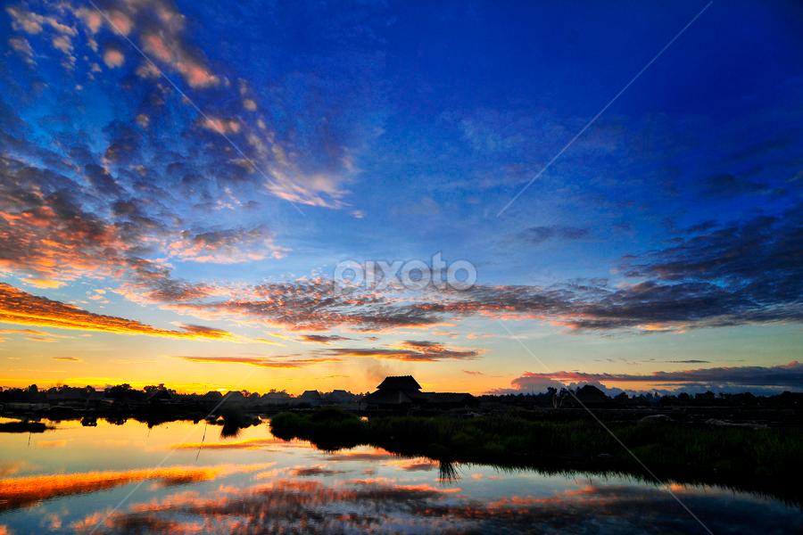 Sun Set by Oxs Oktav - Landscapes Sunsets & Sunrises