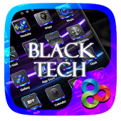 Black Tech Go Launcher Theme