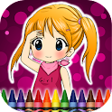 Coloring Book Girls icon
