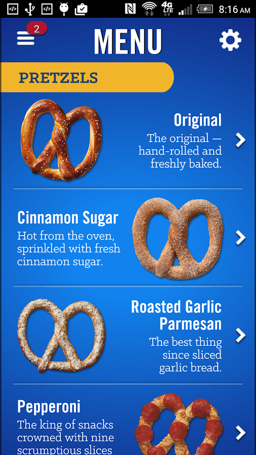 Auntie Anne's Pretzel Perks- screenshot