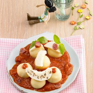 Mini Kartoffelknödel Tomaten-Mozzarella