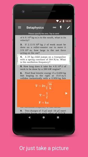 Betaphysics u2014 physics solver and formulas helper android2mod screenshots 2