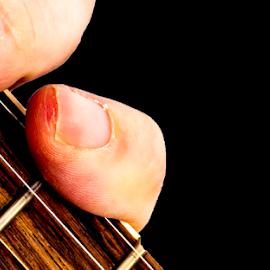 Fretting 111018 by Anthony Balzarini - Artistic Objects Musical Instruments ( #music, #guitar, #frets, #playingguitar, #makingmusic, #guitarstrings )