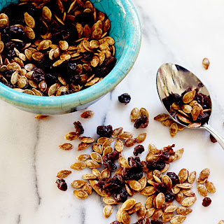 Sweetly Spiced Roasted Pumpkin Seed & Raisin Snack Mix