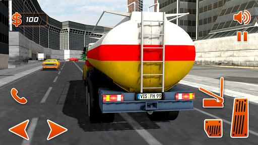 Modern City Gas Station 3D Pickup Truck Refueling  screenshots 1