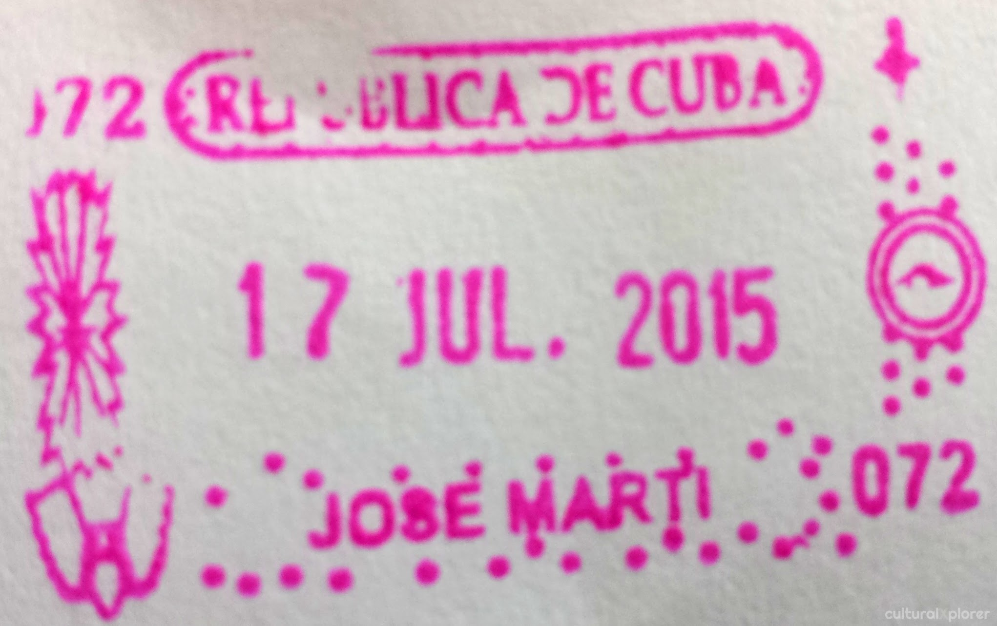 cuban passport stamp