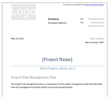 The ultimate list of 41 free project management templates project risk management plan template maxwellsz
