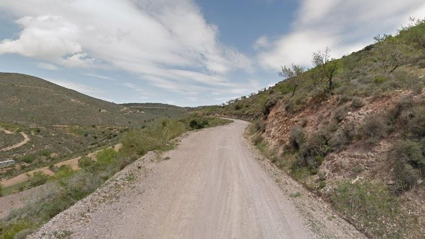 Camino de la Sierra, en Felix, donde ha ocurrido el accidente.