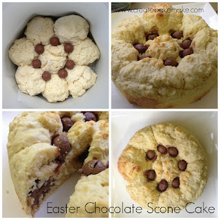 Easter Chocolate Scone Cake