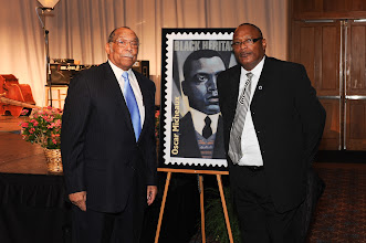Photo: Postal unveiling - Elzie Odom and Jerry Woodard