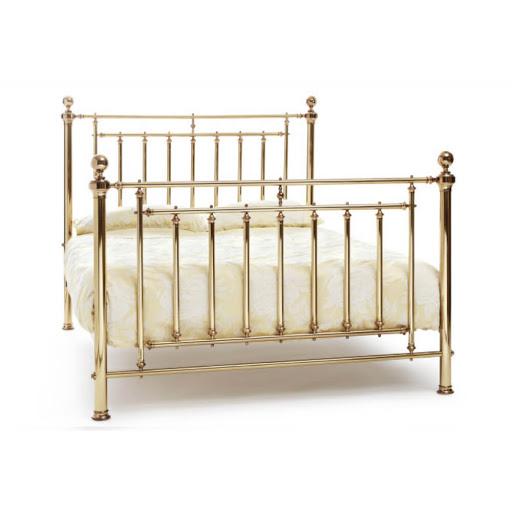 Serene Solomon Bed Frame Nickel